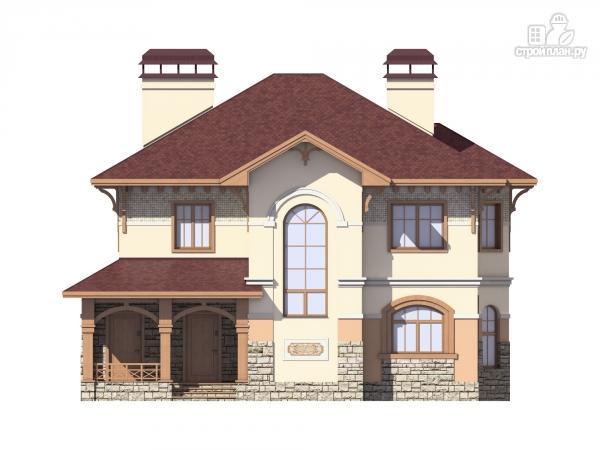 Фото 2: проект двухэтажный дом из газобетона с террасой