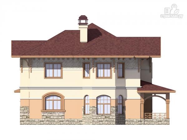Фото 3: проект двухэтажный дом из газобетона с террасой