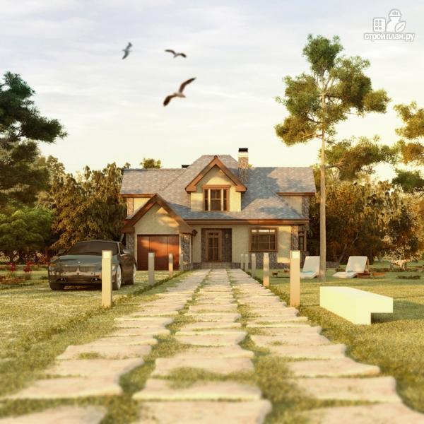 Фото 6: проект дом с террасой, сауной и бассейном