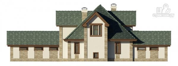 Фото 5: проект дом с террасой, сауной и бассейном