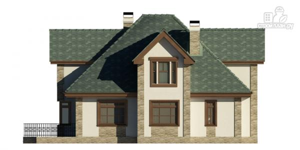 Фото 4: проект дом с террасой, сауной и бассейном