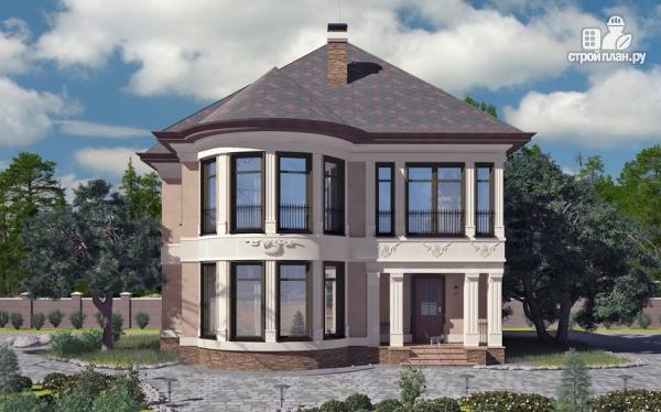 Фото: проект двухэтажный дом с террасой и сауной