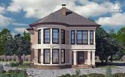 Проект двухэтажный дом с террасой и сауной