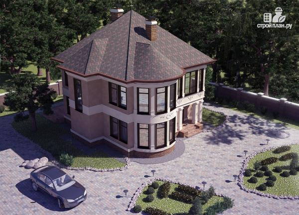 Фото 8: проект двухэтажный дом с террасой и сауной
