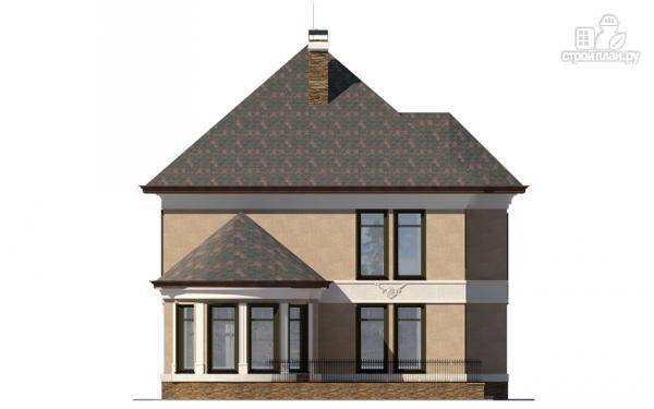 Фото 6: проект двухэтажный дом с террасой и сауной