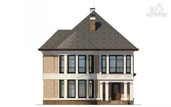 Фото 7: проект двухэтажный дом с террасой и сауной