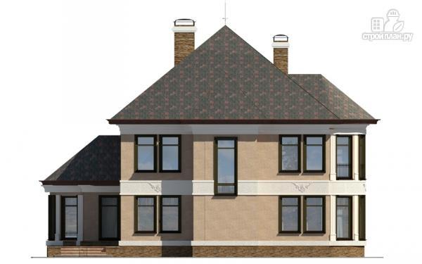 Фото 4: проект двухэтажный дом с террасой и сауной