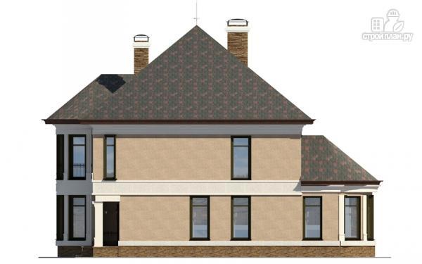 Фото 5: проект двухэтажный дом с террасой и сауной