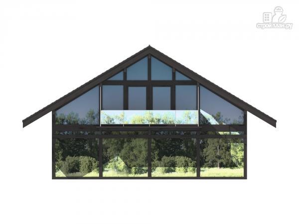 Фото 4: проект каркасный дом с балконом