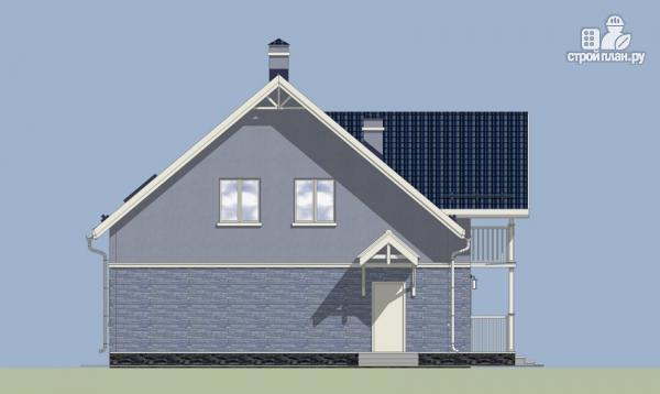 Фото 5: проект дом с балконом, террасой и мансардным этажом
