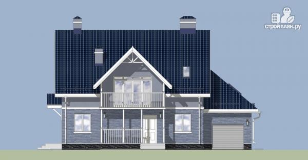 Фото 7: проект дом с балконом, террасой и мансардным этажом