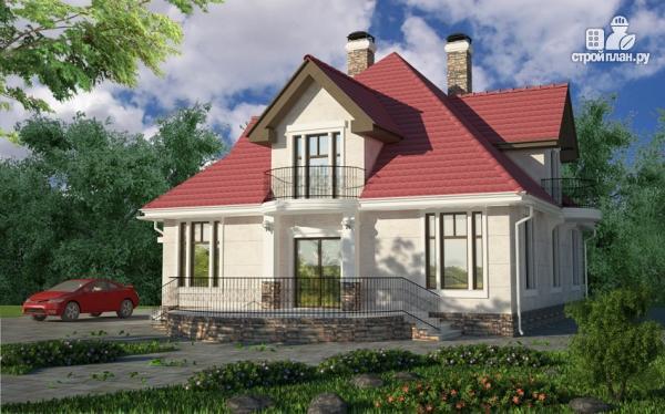 Фото: проект дом с террасой, верандой и балконом