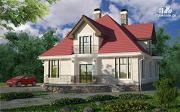 Проект дом с террасой, верандой и балконом
