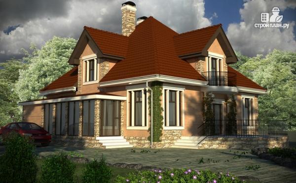 Фото 8: проект дом с террасой, верандой и балконом