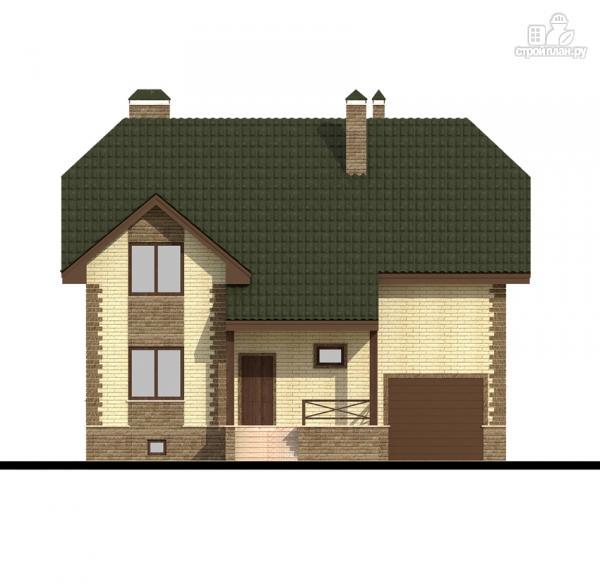 Фото 7: проект дом с террасой и гаражом