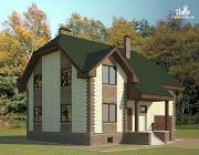 Фото: дом с террасой и гаражом