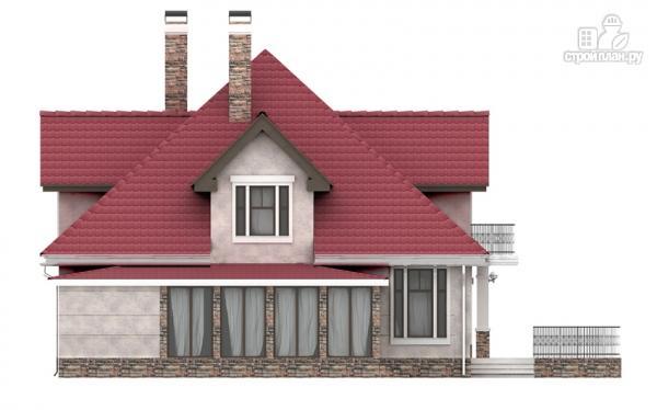 Фото 7: проект дом из газобетона с балконом, террасой и верандой