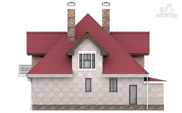 Фото 4: проект дом из газобетона с балконом, террасой и верандой