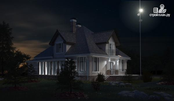 Фото: проект дом из газобетона с балконом, террасой и верандой