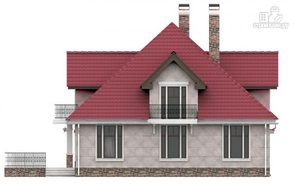 Фото 5: проект дом из газобетона с балконом, террасой и верандой