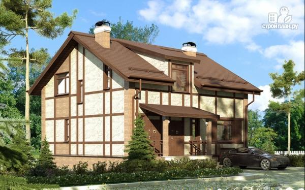 Фото: проект дом с террасой и сауной
