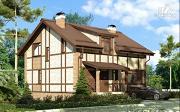 Фото: дом с террасой и сауной