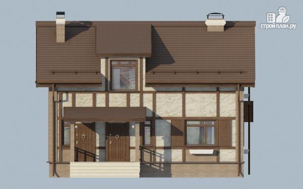 Фото 4: проект дом с террасой и сауной