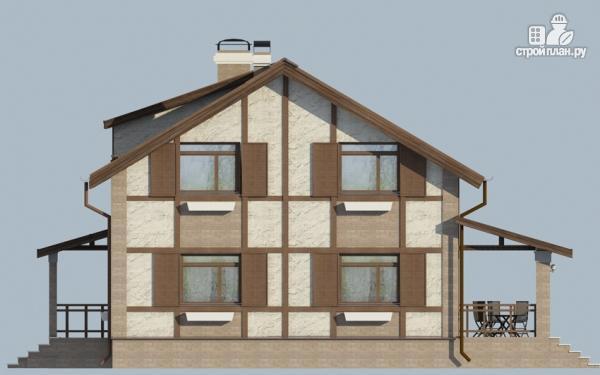 Фото 6: проект дом с террасой и сауной