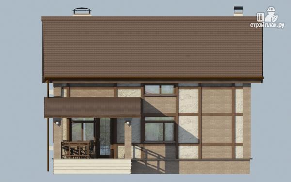 Фото 9: проект дом с террасой и сауной