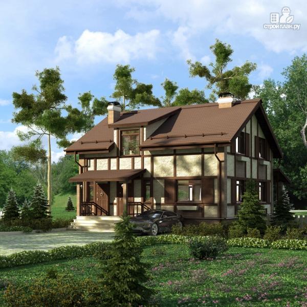 Фото 8: проект дом с террасой и сауной
