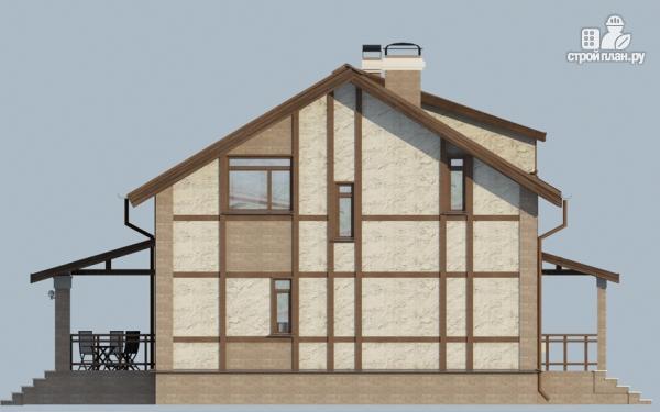 Фото 5: проект дом с террасой и сауной