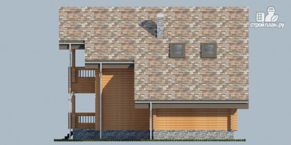 Фото 4: проект деревянный дом с террасой, балконом и сауной