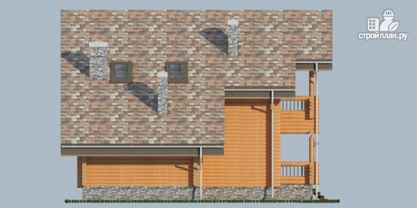 Фото 5: проект деревянный дом с террасой, балконом и сауной