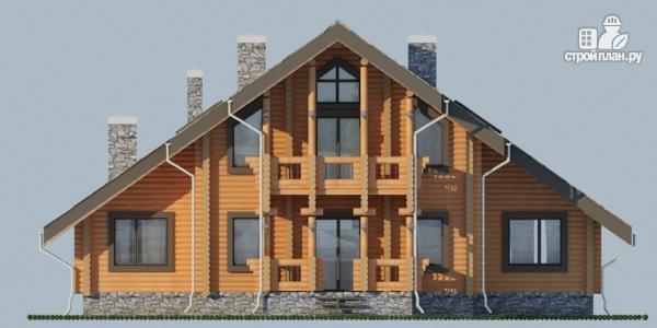 Фото 7: проект деревянный дом с террасой, балконом и сауной