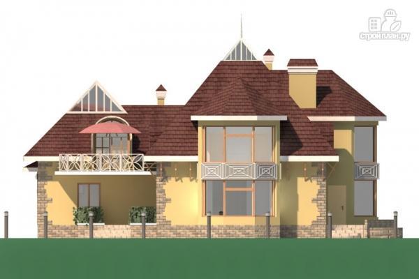 Фото 5: проект дом с балконом, террасой и гаражом