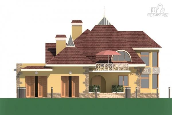 Фото 7: проект дом с балконом, террасой и гаражом