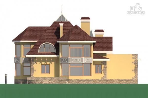 Фото 4: проект дом с балконом, террасой и гаражом