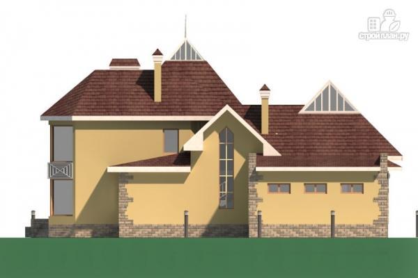 Фото 6: проект дом с балконом, террасой и гаражом