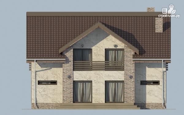 Фото 7: проект дом с мансардным этажом, террасой и балконом