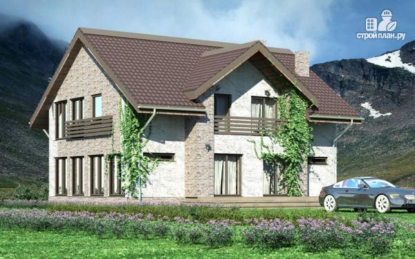 Фото 8: проект дом с мансардным этажом, террасой и балконом