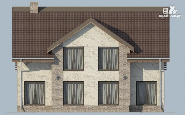 Фото 6: проект дом с мансардным этажом, террасой и балконом