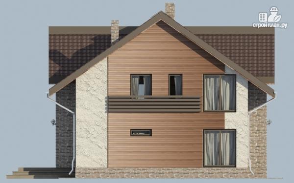 Фото 5: проект дом с мансардным этажом, террасой и балконом