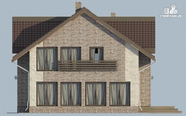 Фото 4: проект дом с мансардным этажом, террасой и балконом