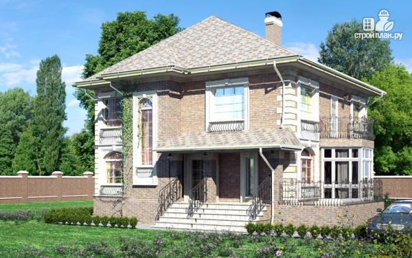 Фото 8: проект двухэтажный дом с балконом и террасой