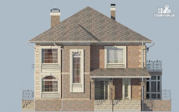 Фото 7: проект двухэтажный дом с балконом и террасой