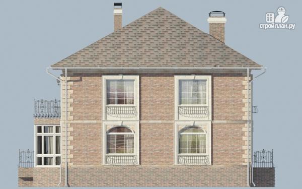 Фото 6: проект двухэтажный дом с балконом и террасой