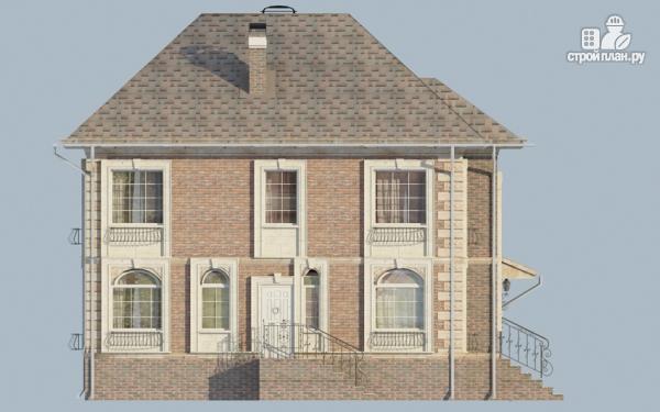 Фото 4: проект двухэтажный дом с балконом и террасой