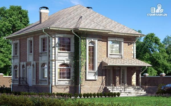 Фото: проект двухэтажный дом с балконом и террасой