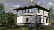 Проект двухэтажный дом с застеклённой лоджией