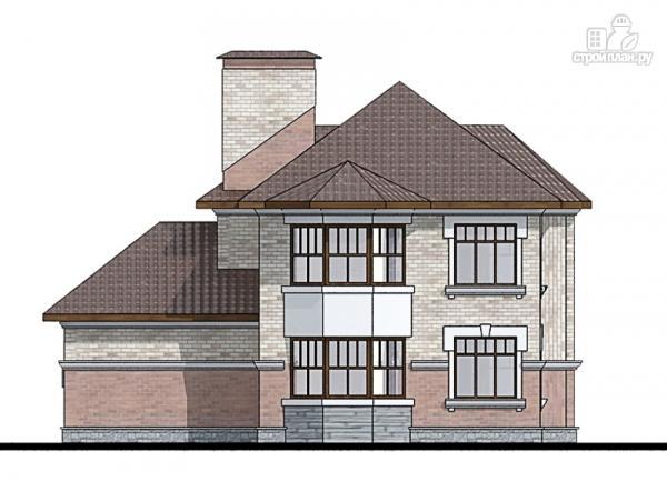 Фото 6: проект двухэтажный дом из газобетона с террасой и эркерами